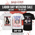 Labor Day weekend sale in the official Alice Cooper store starts now!  20% off using code LDW20 >> http://shop.alicecooper.com/collections/everything