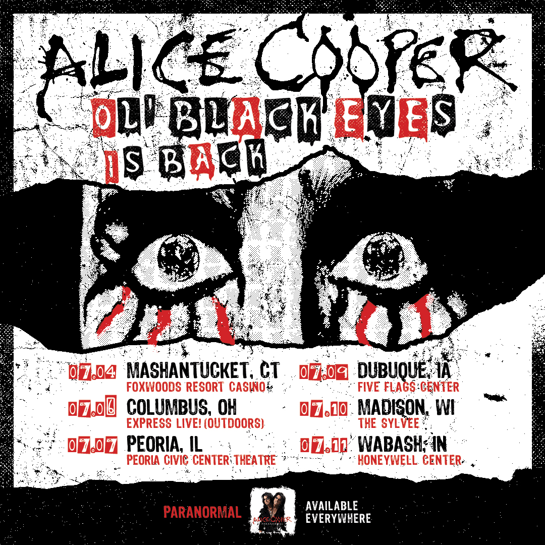 Additional Alice Cooper US Dates Added | Alice Cooper